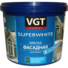 Краска ВД-АК-1180 фасадная супербелая зимняя 15 кг