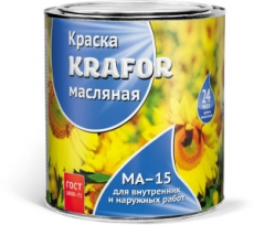 Краска МА-15 KRAFOR и Сурик железный 25 кг