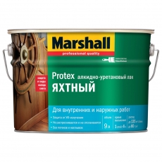 Яхтный лак Marshall полуматовый 9 л