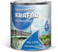 Эмаль по ржавчине НЦ KRAFOR 17 кг