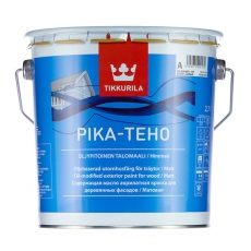 Краска акрилатная для дерева Tikkurila Pika-Teho Белая матовая  2,7 л