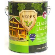VERES CLASSIC LAZURA полуматовая лазурь 2,7 л