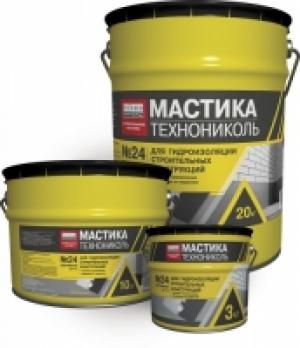 Битумная мастика гидроизоляционная «Технониколь 24» МГТН 20 кг
