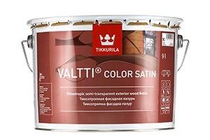 Тиксотропный лессирующий антисептик TIKKURILA Valtti Color Satin бесцветный 9 л