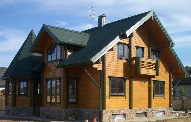 Белинка топлазурь лиственница фото домов